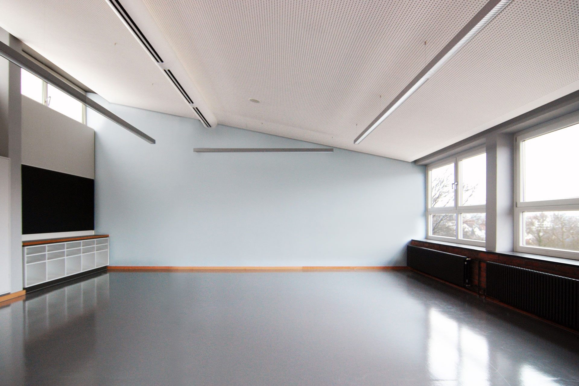 Klassenraum der Haldenrainschule