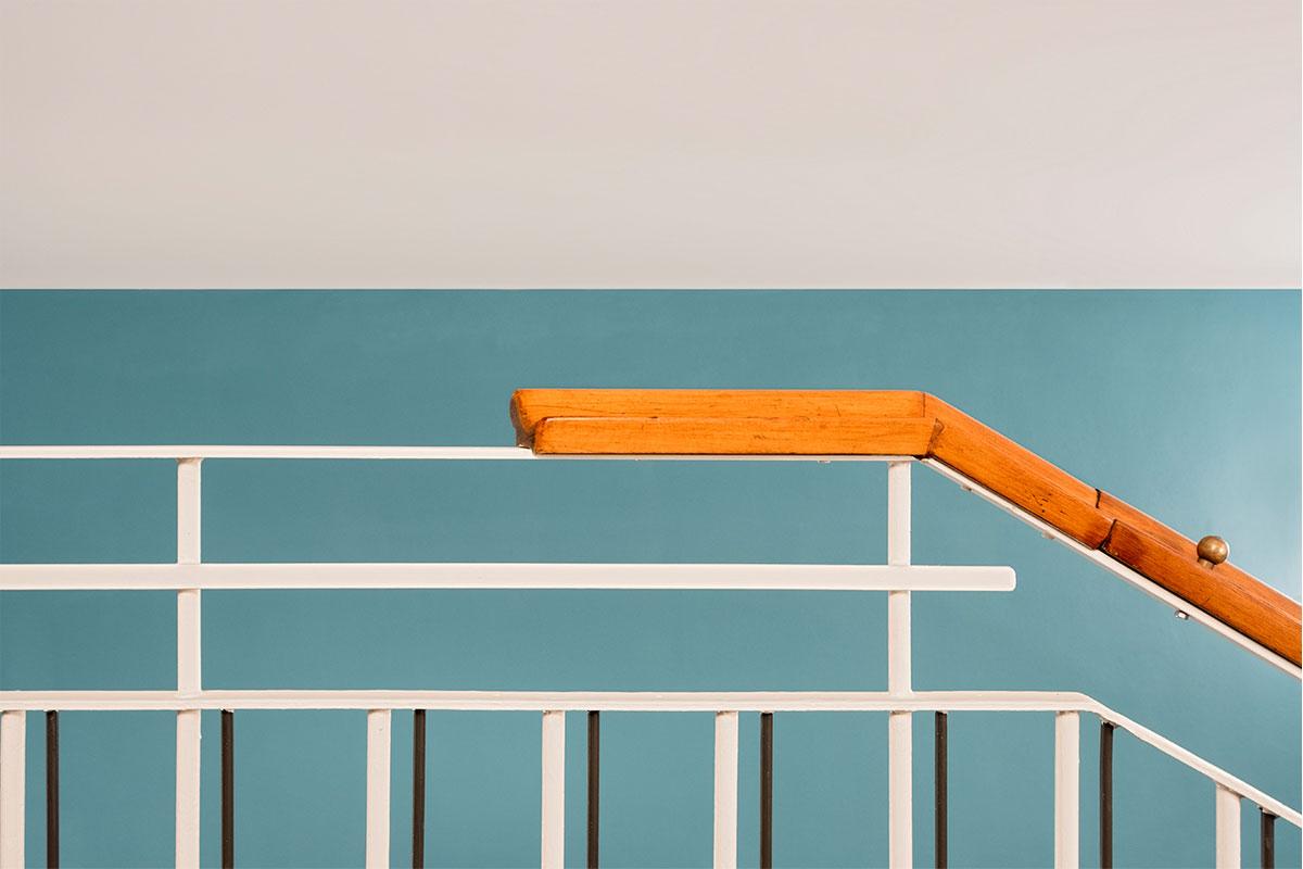 Treppengeländer der Haldenrainschule
