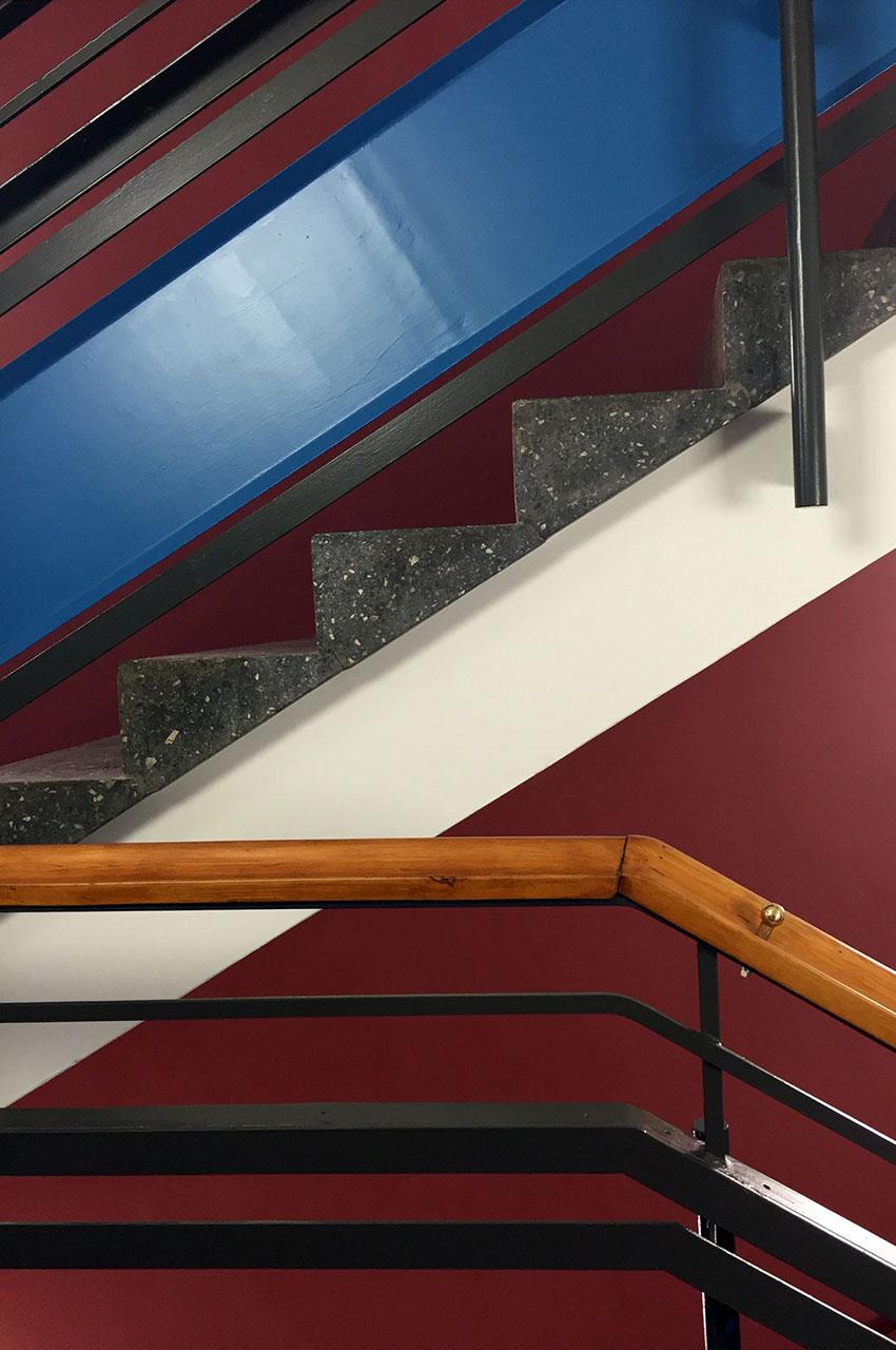 Treppen der Haldenrainschule