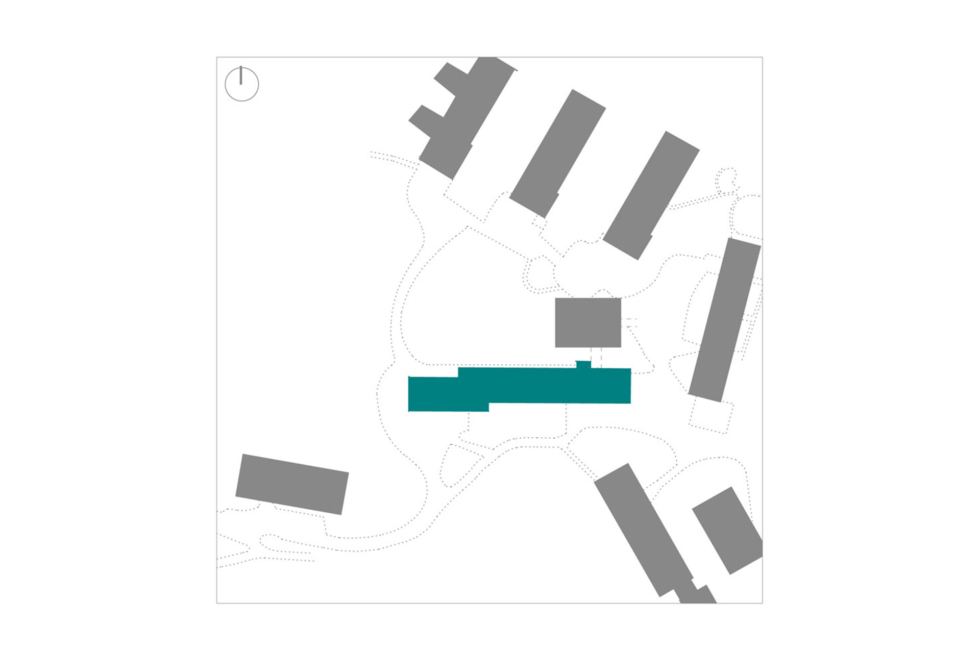 Luftansicht des Grundstücks der Haldenrainschule