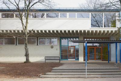Achitekt, Sanierung Silcherschule Denkmal, Eingangsbereich