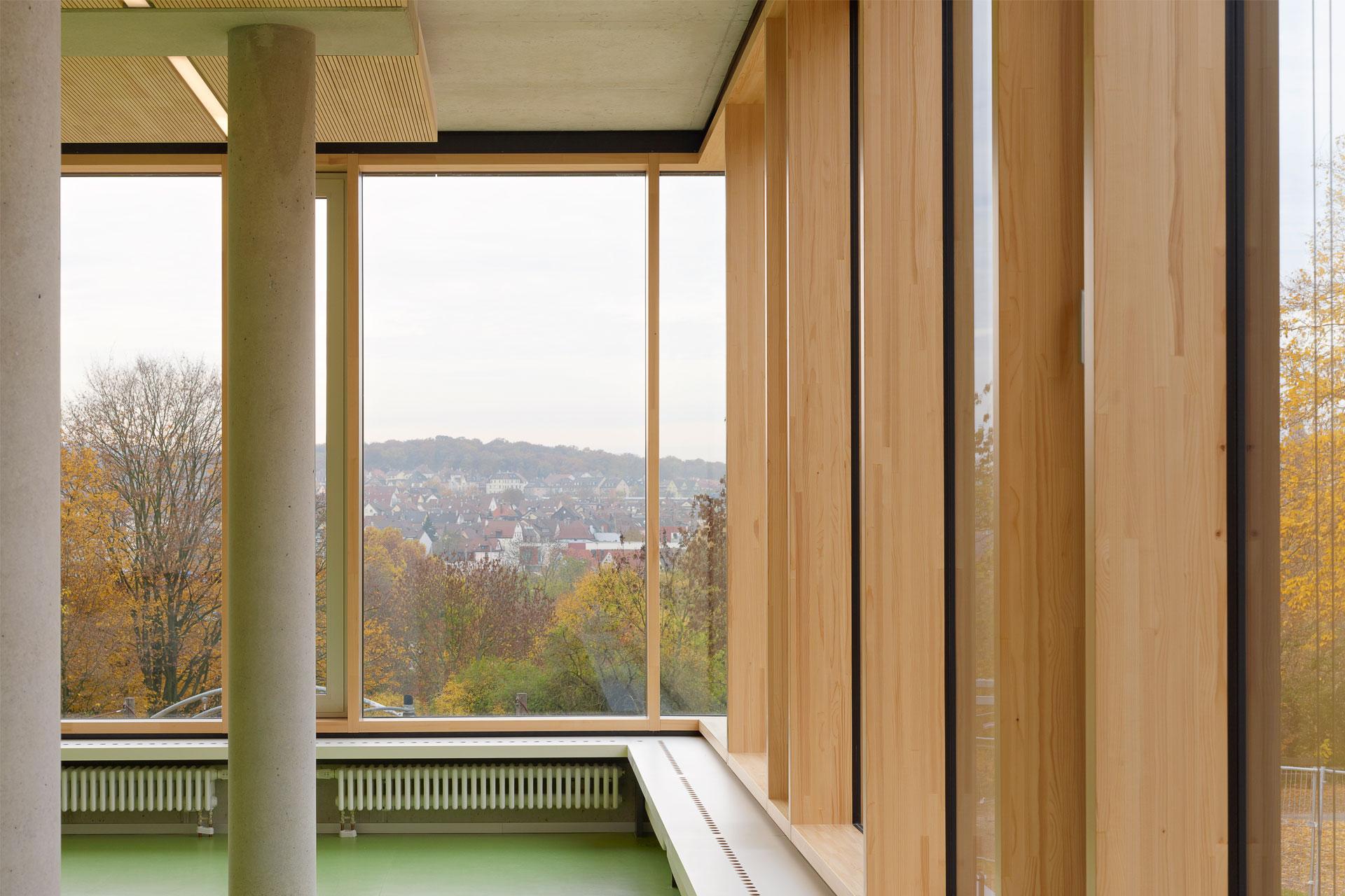 Architekt, Schülermensa, Holz-Alu Pfosten Riegel