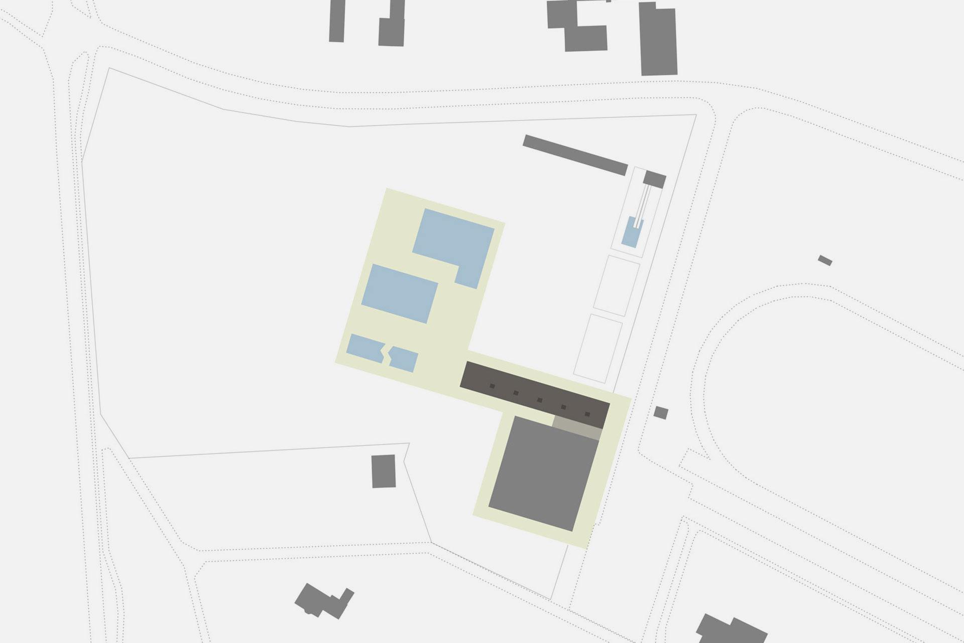 Schwarzplan Kombibad