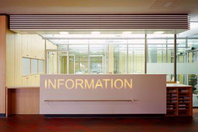 Umbau Pforte orthopädische Klinik, Eingangsbereich, Empfang