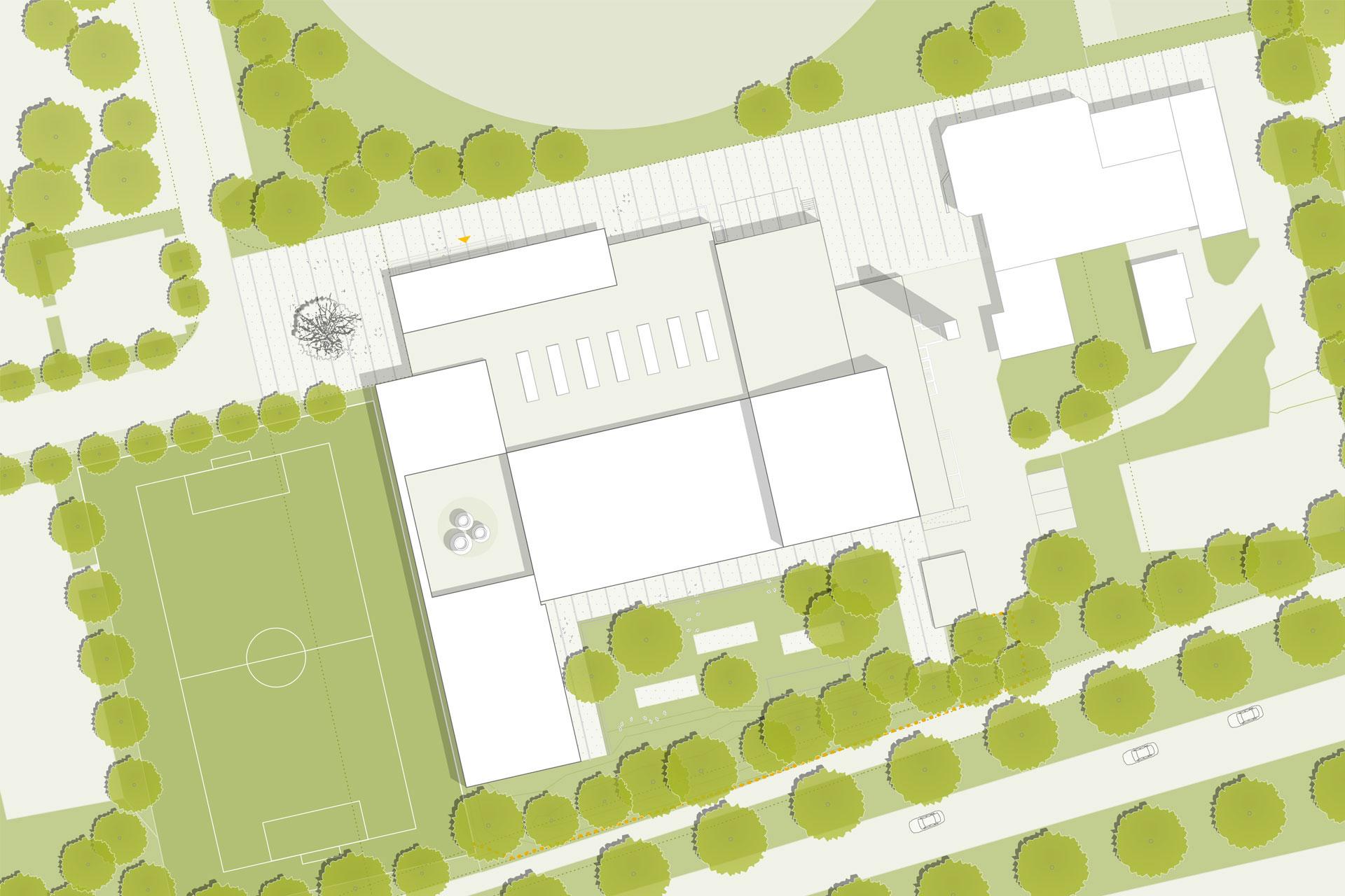 Hallenbad Germering Lageplan