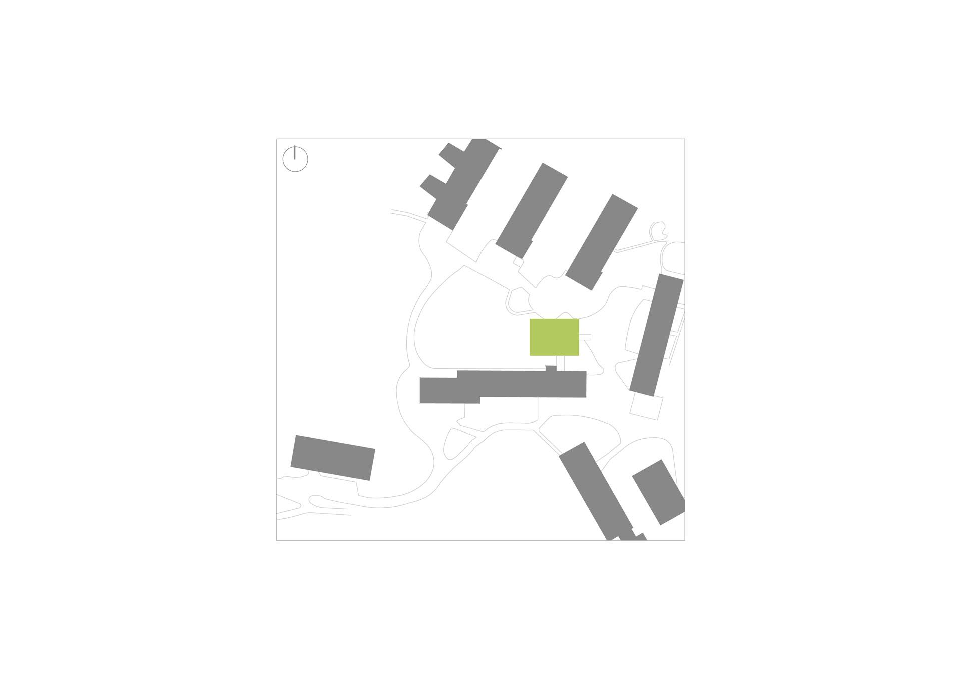 Architekt, Erweiterungsneubau Mensa, Schwarzplan
