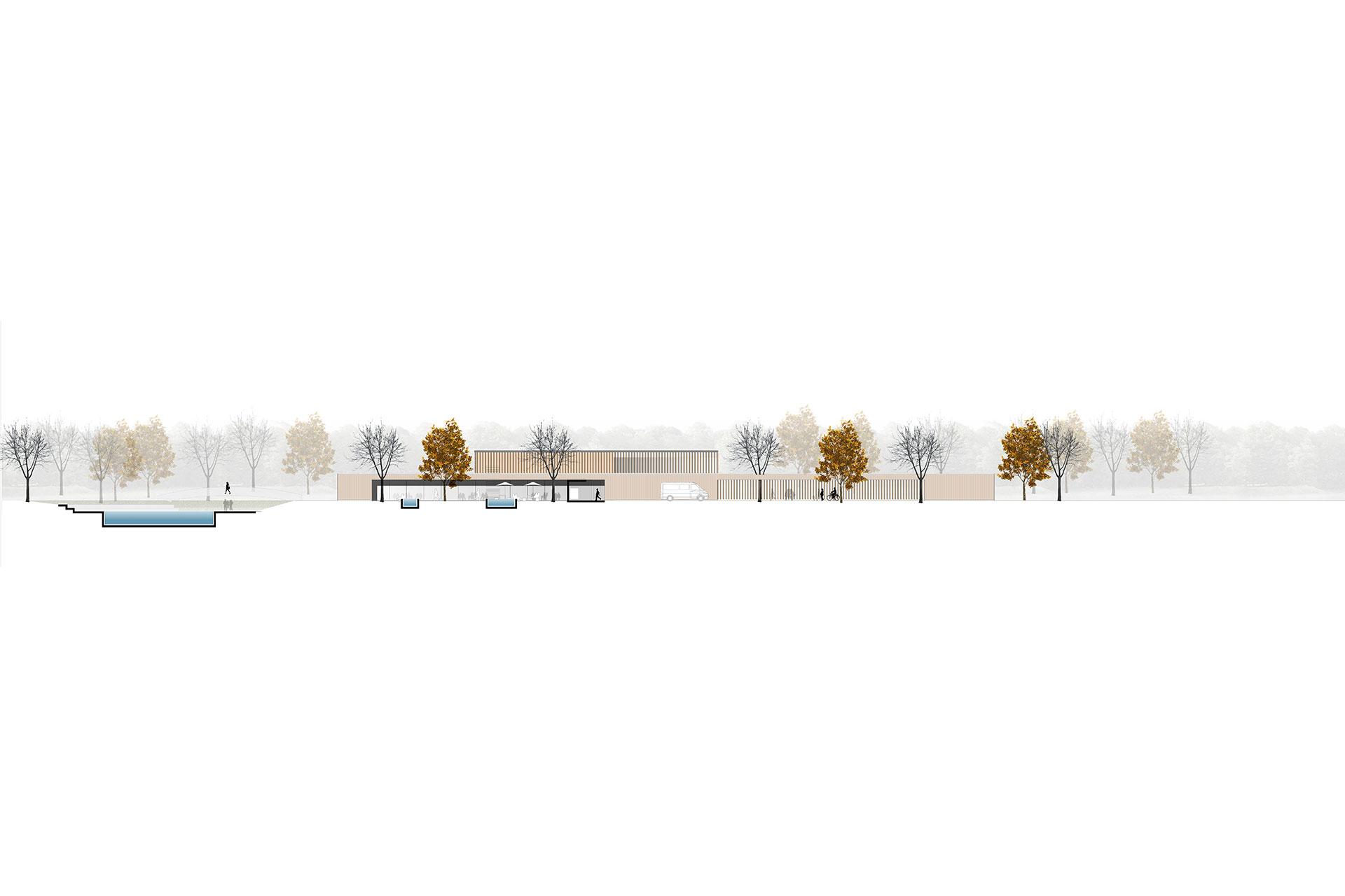 Neubau Kombibad Umstruktierung Badepark Wörth